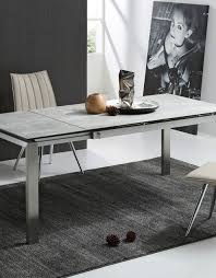 the slate grey ceramic glass top table