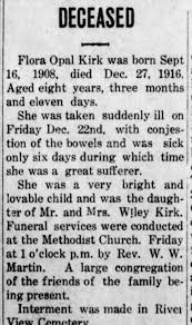 Flora Opal Kirk - Newspapers.com