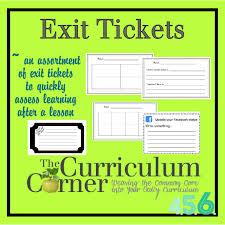 Exit Ticket Template Exit Ticket Template Ela English Language Arts Reading Closure 21