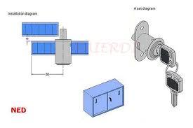12pcs ned105 plunger lock push lock with 2 keys for sliding glass door showcase furniture cabinet