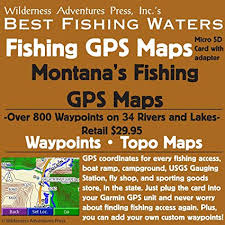 Fishing Charts Near Me Amazon Com Montana Fishing Gps Maps Micro Sd Card