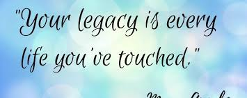 What Do You Want To Do Legacy What Do You Want To Be Known For Hr Without Ego