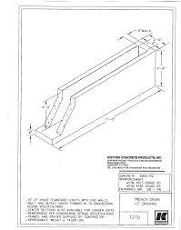 Concrete Trench Drain Design