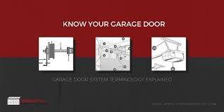 know your garage door system garage door terminology explained