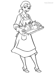 Waiter And Waitress Coloring Sheet Is