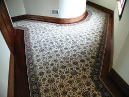 stair carpet runner custom stair runner landing seamed together to get the width notice the curves stair carpet runner