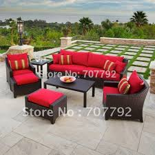 excellent dark brown and red rectangle wood with cotton resin wicker patio chairs varnished design ideas