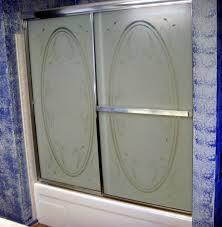 forsted bathtub shower door