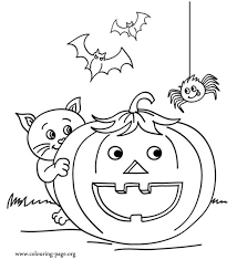 Small Picture Halloween Coloring Pages To Print Of Black Cats Coloring