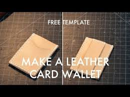 Free Leather Templates Making A Leather Card Wallet Build Along Tutorial Free