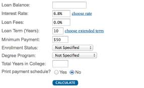 Loan Repayment Calculators Penn State Office Of Student Aid