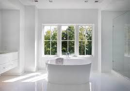 bathroom modern white. Modern Bathroom With Oval Tub White