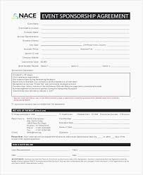 Sponsorship Contract Template New Event Sponsorship Agreement Form Template Advertising Examples Event