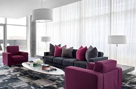 mauve and grey living room