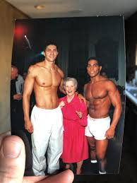 """Christopher Rice on Twitter: """"News cycle getting you down? Here's my  Grandma Dotty with some go go boys #getitgurl… """""""