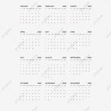 Calendar 2020 Template Calendar Planning Week 2020 Calendar