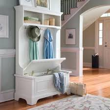 Built In Coat Rack Inspiration Custom Hall Tree Awesome White Wooden Hall Tree Entryway Bench Coat