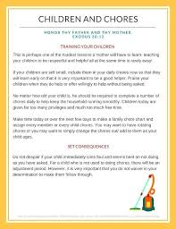 Household Chore Chart Household Chore Charts Free Printable For Children Kid Rotating