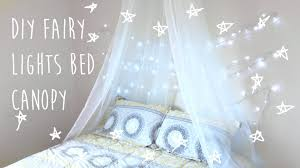 Diy Bed Canopy Diy Bed Canopy With Fairy Lights Tumblr Pinterest Inspired