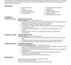 office assistant resume administrative assistant administration ...