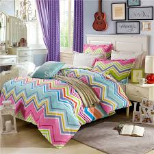 100 cotton modern multi colorful chevron zigzag bed lien for duvet set inspirations 12
