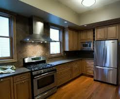 Wooden Floors For Kitchens Kitchen Modern Kitchen Design With Dark Gray Flooring Color