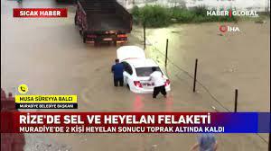 Rize'de Sel ve Heyelan Felaketi! 2 Kişi Toprak Altında Kaldı - YouTube