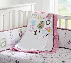 alphabet crib sheet animal alphabet baby bedding set pottery barn kids o bed sheets