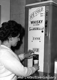 Antique Whiskey Vending Machine For Sale Best Vintage Ice Cold Whiskey Dispenser 48s Vintage Photo Print EBay