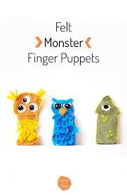 diy monster felt finger puppets includes a free printable