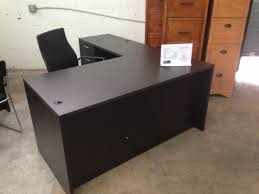 picture of of4s promo l shaped manager s desk with a locking box file drawer