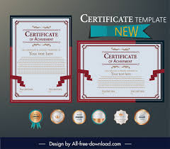 Download Award Certificate Templates Award Certificate Template Elegant Classic Red White Decor
