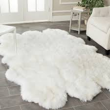 big white fluffy rug