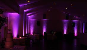 mood lighting ideas. Restaurant Mood Lighting Design With Purple Floor Spotlights And Ceiling Recessed Lights Ideas