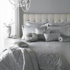 kylie minogue at home silver bedding