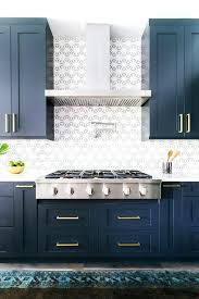Dark Blue Cabinets Warm Kitchen Loving Madly With Regard To 14 ...