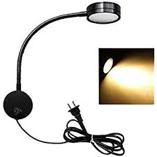wall mount plug in lamp. Flexible LED Wall Lamp, 5W Gooseneck Mount Sconce Reading Light With Switch And Plug In Cord For Indoor, Bedroom, Living Room Or Kids By MILAPEAK Lamp