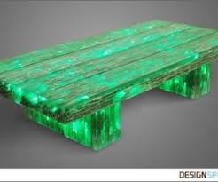Useful Functional Night Light Table  Railway Sleeper Inspired Light Beam  Coffee Table