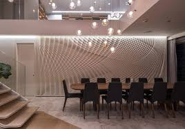 Sculptural Feature Wall In Dining Room  Fields Studio