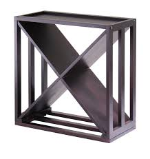 winsome wood kingston x design wine rack and storage cube