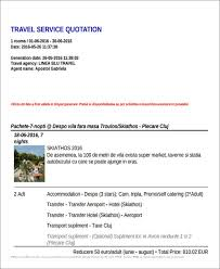 Transportation Quotation Format Sample 45 Quotation Samples In Pdf