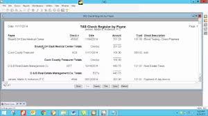 Tabs3 Ebite Learn How To Use The Check Register By Payee Report In