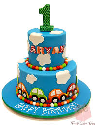 Aryans First Birthday Cake Birthday Cakes Birthday Cakes Boys