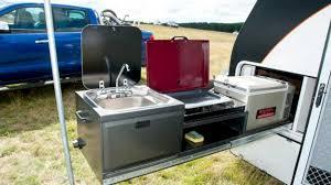 trailblazers toy hauler with outdoor kitchen