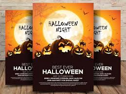 halloween template flyer free halloween flyer psd template freebiescafe