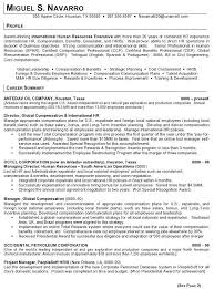 Human Resources Resumes Resume Sample 11 International Human Resource Executive