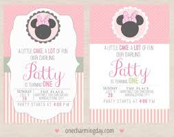 Free Minnie Mouse Birthday Invitations Free Minnie Mouse Party Printables One Charming Day