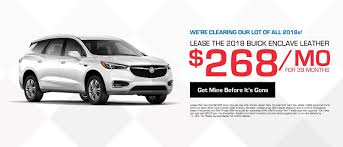 2018 buick enclave lease for 268 mo for 39 months