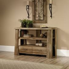 sauder boone mountain anywhere console craftsman oak finish com