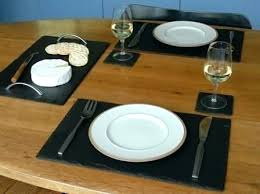 black leather placemats round glass table mats slate home decorating ideas interior design kitchen fascinating denby black leather placemats table